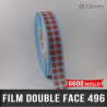 Pastille adhésive double face 210µ Ø12mm