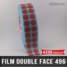 Pastille adhésive double face 210µ Ø20mm