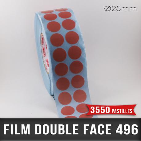Pastille adhésive double face 200µ Ø25mm
