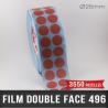 Pastille adhésive double face 210µ Ø25mm