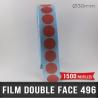 Pastille adhésive double face 210µ Ø30mm