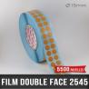 Pastille adhésive double face 280µ Ø15mm
