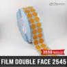 Pastille adhésive double face 280µ Ø25mm