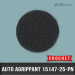 Pastille auto agrippante adhésive Crochet Ø25mm Noir