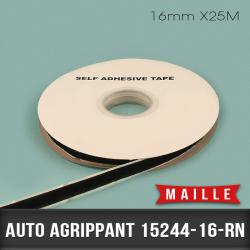 Auto agrippant adhésif Maille 16mm X25M Noir