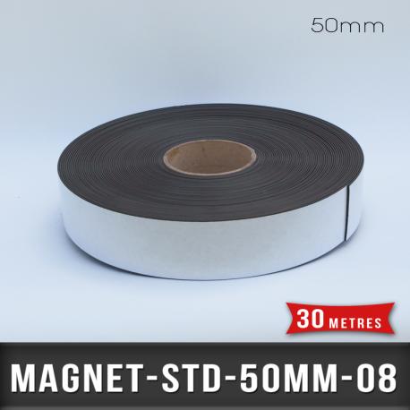 Aimant adhésif Ep 0,8mm l 50mm