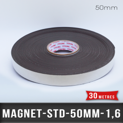 Aimant adhésif Ep 1,6mm l 50mm
