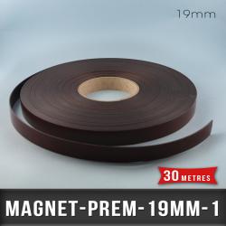 Aimant magnétique adhésif premium Ep 1mm l 19mm