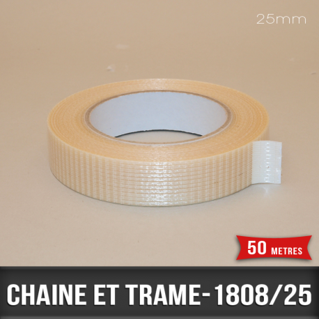 Rouleau d'emballage chaîne trame 25mm
