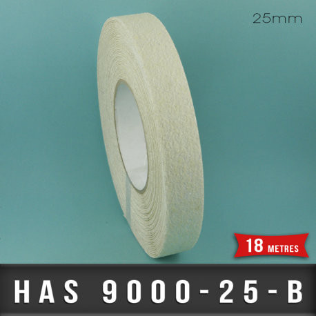 Bande adhésive anti-dérapante Blanc 25mm