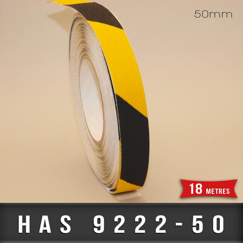 bande adh sive anti d rapante de marquage noir jaune 50mm strong adh sifs industriels. Black Bedroom Furniture Sets. Home Design Ideas