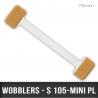 """Wobblers en """"H"""" transparent X2 adhésifs L 75mm"""