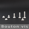 Bouton à vis Blanc 15mm