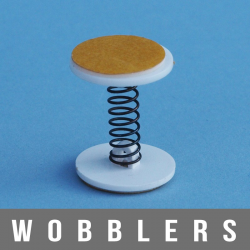 Wobblers à ressort vibrant 2X adhésifs largeur 22mm