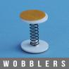 Wobblers à ressort vibrant 2X adhésifs diamètre 20 mm