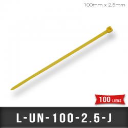 Lien de Fermeture nylon 2,5mm Jaune