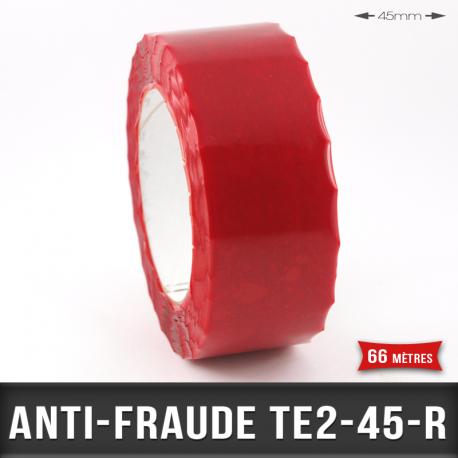 Rouleau adhésif anti-fraude Rouge 45mm