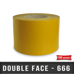 Tramé double face caoutchouc Ep 190µ