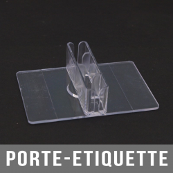 Porte-étiquette 1223-6B transparent 88mm