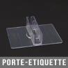 Porte-étiquette transparent