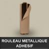 Rouleau metallique neutre adhésif EP 0,4mm