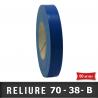 Simple face Plastifié PVC 38mm Bleu / Carton 10 rouleaux