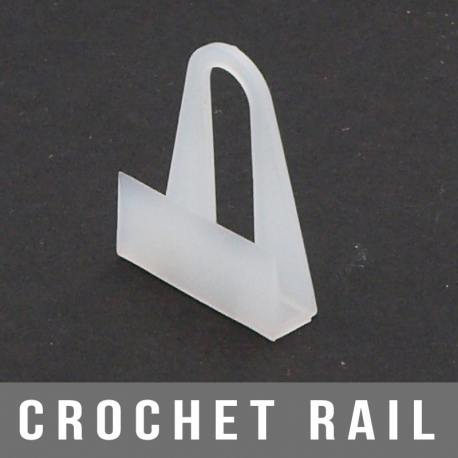 Crochet rail 20X25mm