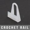 Crochet rail