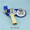 Dévidoir métallique d'adhésif double face - 25mm