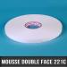 Mousse PE double face adhésive acrylique Ep 1mm L25mm Blanc