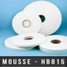 Mousse PE double face adhésive acrylique Ep 1,6mm Blanc