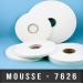 Mousse PE double face adhésives caoutchouc Ep 0,8mm - Blanc