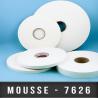 Mousse PE double face adhésive caoutchouc Ep 0,8mm Blanc