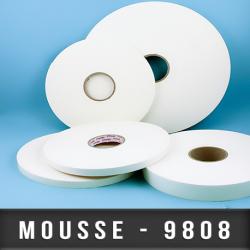 Mousse PE double face adhésives caoutchouc Ep 3,2mm - Blanc