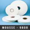 Mousse PE double face adhésive caoutchouc Ep 3,2mm Blanc