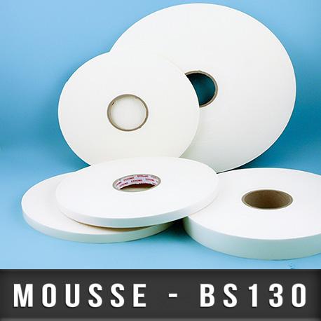 Mousse PE double face adhésives acrylique Ep 0,3mm - Blanc