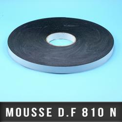 Mousse PE double face adhésive acrylique Ep 1,1mm - Noir