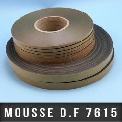 Mousse PE double face adhésives acrylique Ep 0,420mm - Noir