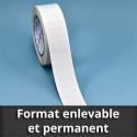 Format enlevable et permanent