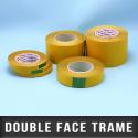 Adhésif double face tramé