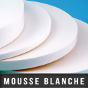 Mousse double face blanche
