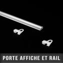 Porte affiche et rail