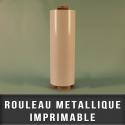 Rouleau metallique imprimable
